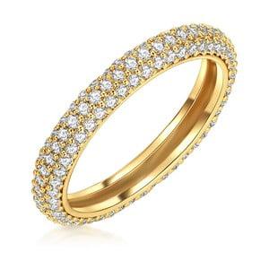 Dámský prsten zlaté barvy Runway Troiana, 54