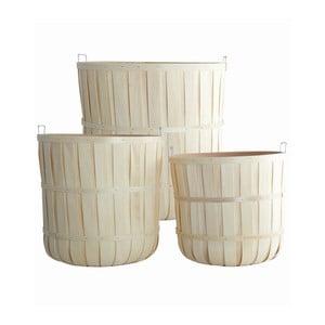Set dřevěných košíků Woody, 3 ks