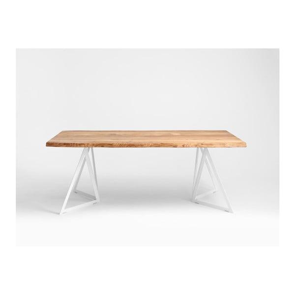 Jídelní stůl s deskou z dubového dřeva Custom Form Sherwood,180x90cm