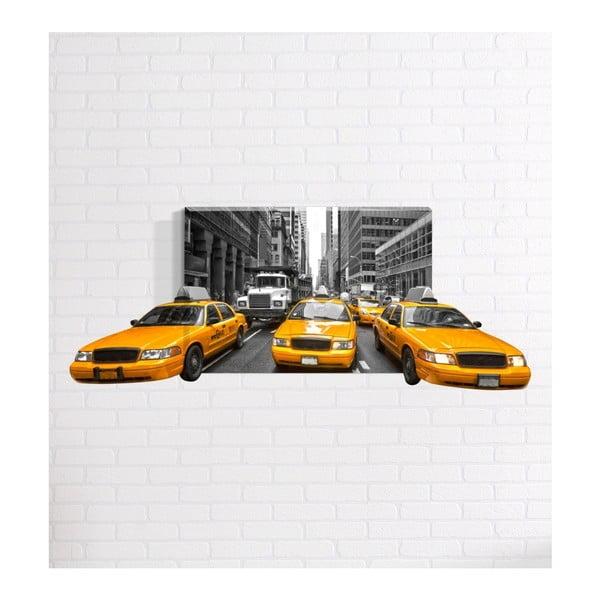 Taxi 3D fali kép, 40 x 60 cm - Mosticx
