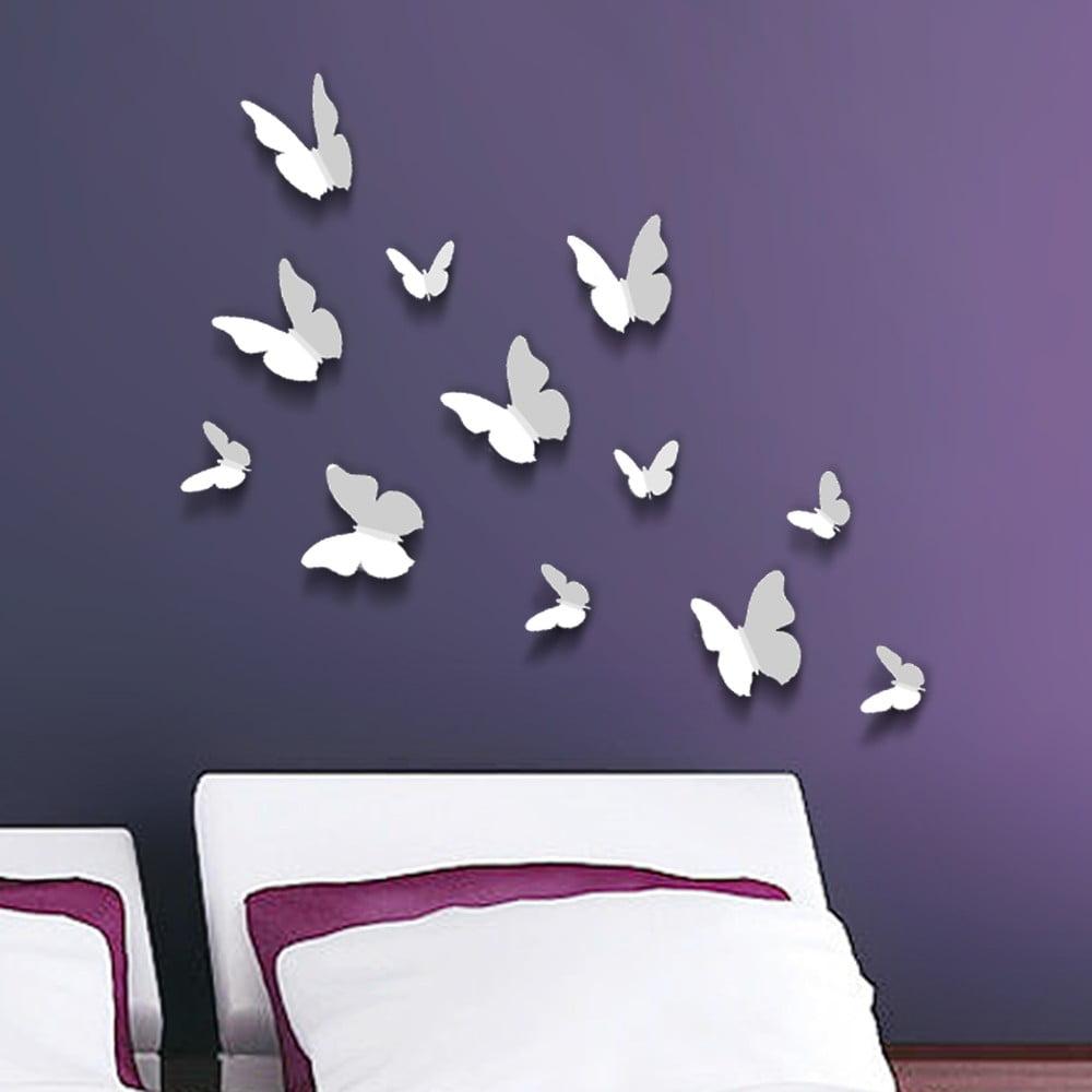 Trojrozměrné samolepky motýlků Walplus 3D Butterflies
