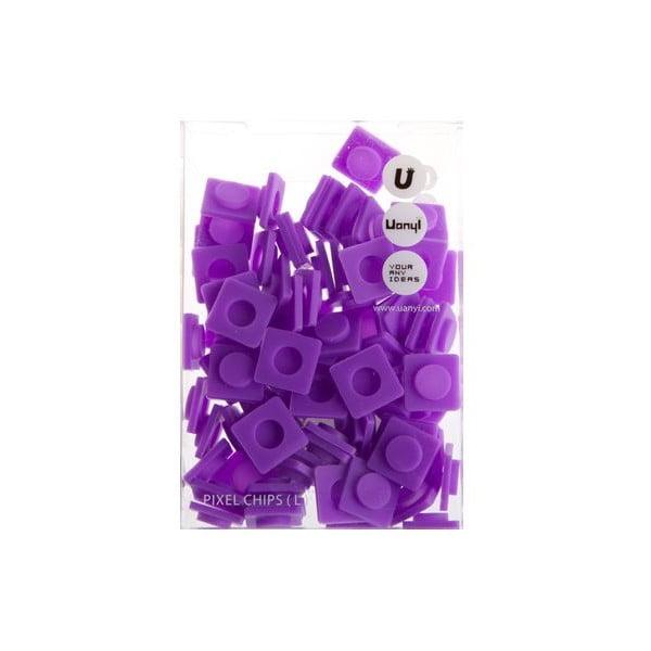 Sada 80 velkých pixelů, purple