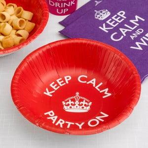Sada 8 papírových dezertních talířů Neviti Keep Calm