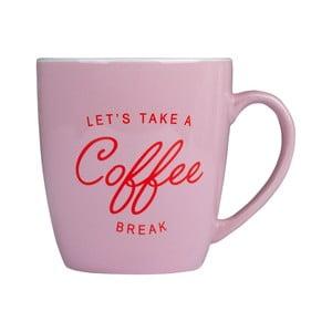 Cană din ceramică Tri-Coastal Design Coffee, roz