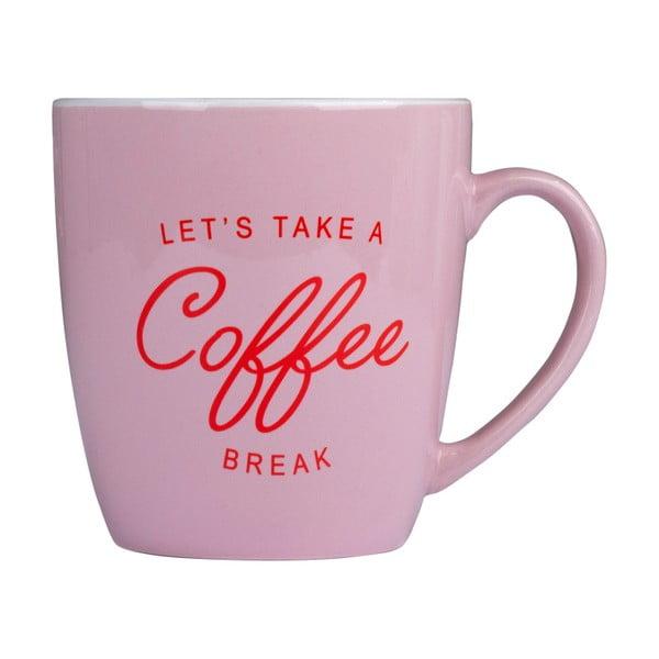 Coffee rózsaszín kerámia bögre, 300 ml - Tri-Coastal Design