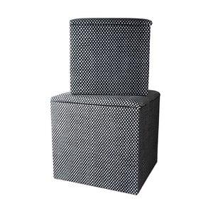 Sada dvou kostkovaných krabic