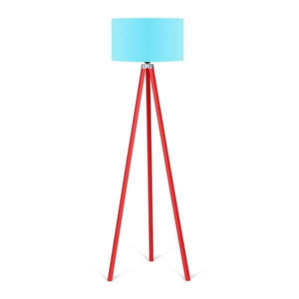 Redish állólámpa türkizkék lámpaburával - Kate Louise