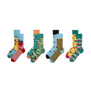Sada 4 párů ponožek v dárkovém balení Many Mornings Tropical, vel. 43–46