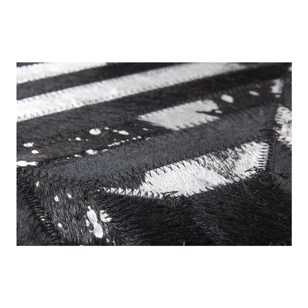Koberec z pravé kůže Dazzle 400 Dark, 80x150 cm