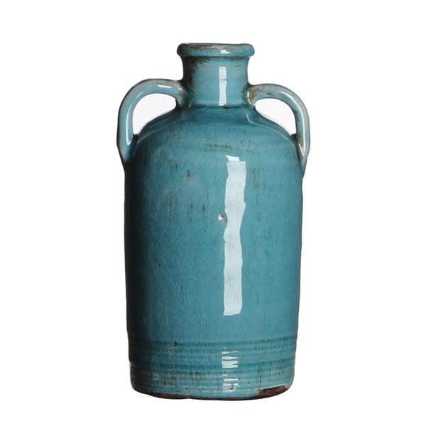 Keramická váza Sil Turquoise, 20x10 cm