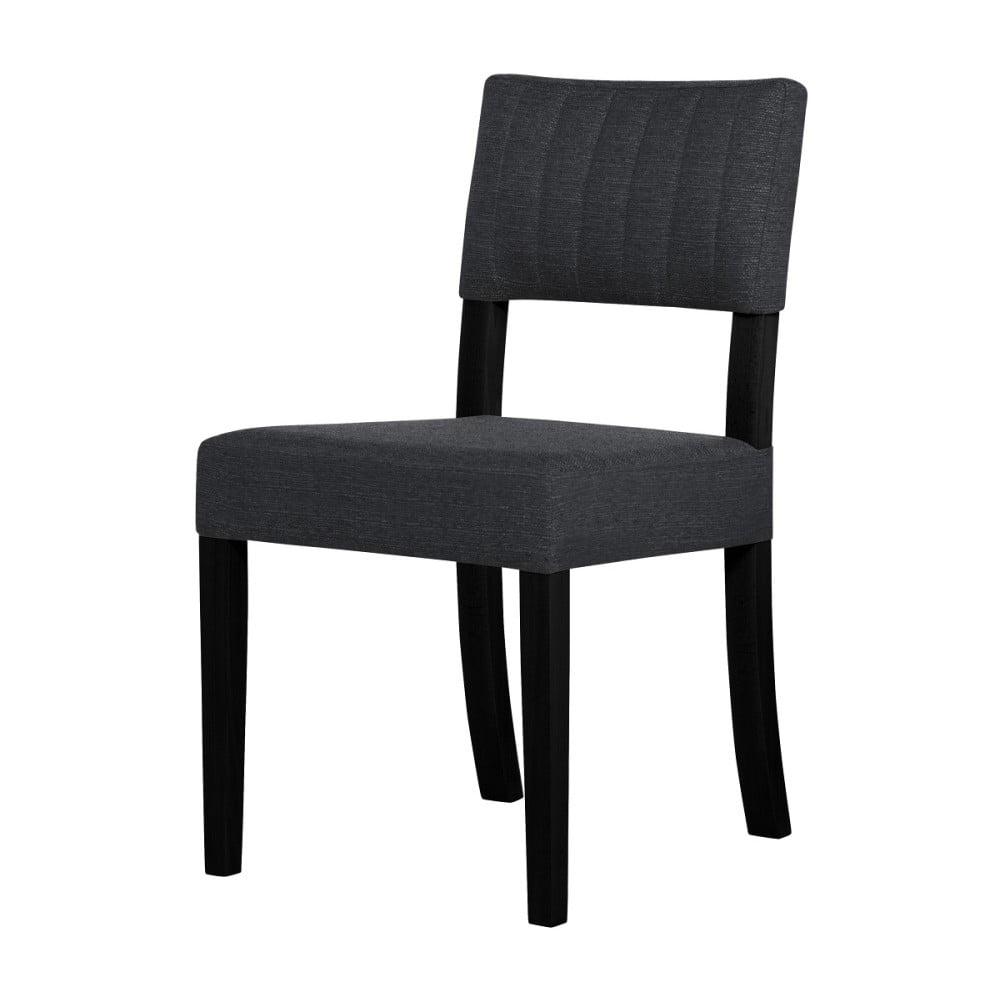 Tmavě šedá židle s černými nohami Ted Lapidus Maison Néroli