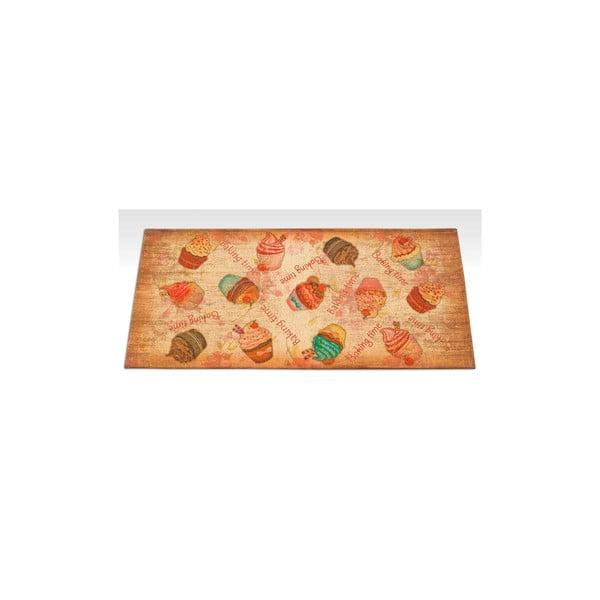 Vysokoodolný kuchynský koberec Webtappeti Cakes, 60×115 cm