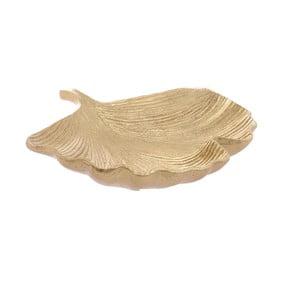 Dekorativní miska vezlaté barvě InArt Golden Leaf, 41x36cm