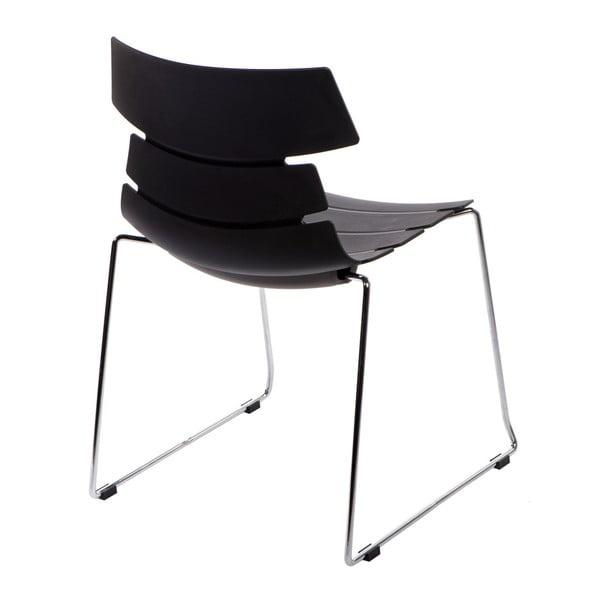 Sada 2 černých židlí D2 Techno