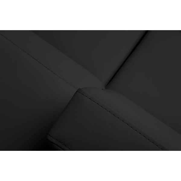 Tmavě šedá kožená rozkládací rohová pohovka Windsor & Co Sofas Gamma, levý roh