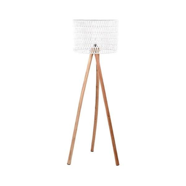 Bílá lampa zmangového dřeva LABEL51 Stripe