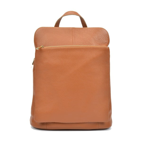 Karmelowy plecak skórzany Isabella Rhea Cecilia