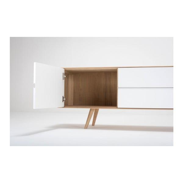 Komoda z dubového dřeva Gazzda Ena, 180x42x60cm