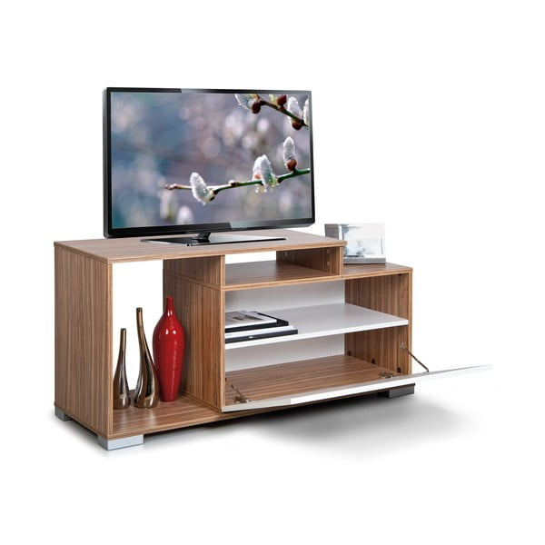 Televizní stolek Nesta, bílý/samba