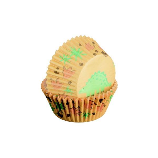 Sada 75 formiček na cupcakes Dinosaur