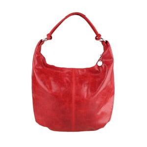 Červená kožená kabelka Chicca Borse Francisca