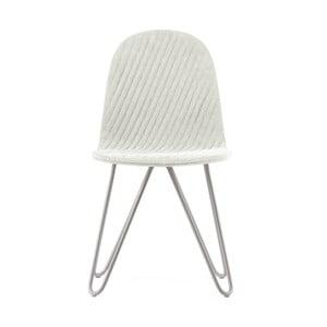 Krémová židle s kovovými nohami IkerMannequinXStripe