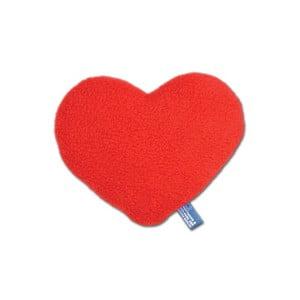 Nahřívací polštářek Srdce 12 cm, červený