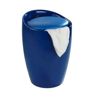 Coș de rufe /taburet Wenko Candy, 20 l, albastru