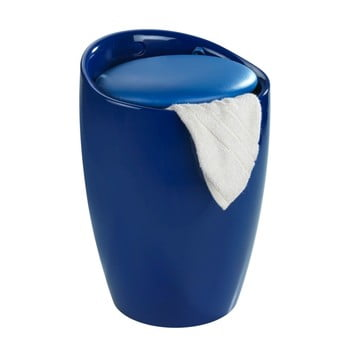 Coș de rufe /taburet Wenko Candy, 20 l, albastru imagine