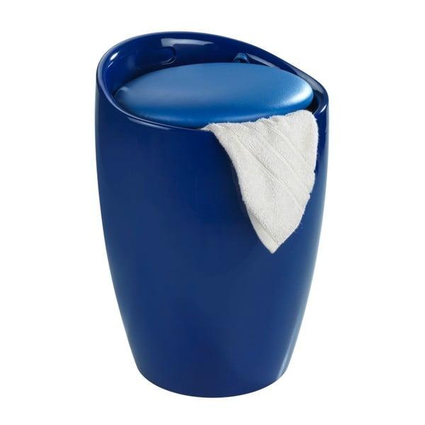 Candy kék szennyestartó és ülőke egyben, 20 l - Wenko