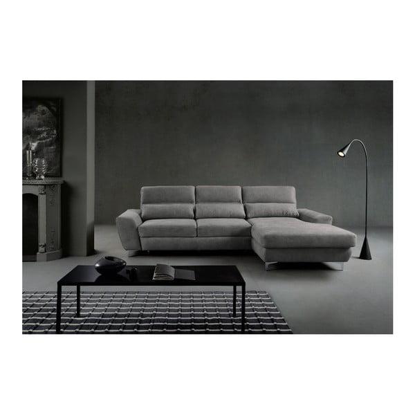 Světle šedá rozkládací rohová pohovka Windsor & Co Sofas Omega, pravý roh