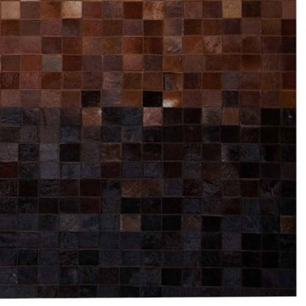 Koberec z pravé kůže Sao Paulo Brown, 200x300 cm