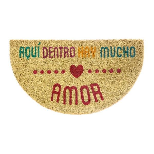 Rohožka z kokosových vláken Fisura Amor Multi, 40x70 cm