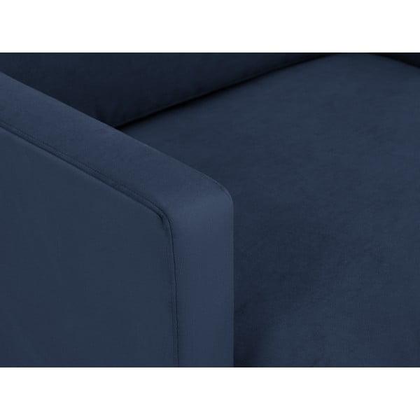 Tmavě modré křeslo s podnožím ve zlaté barvě Windsor & Co Sofas Jupiter