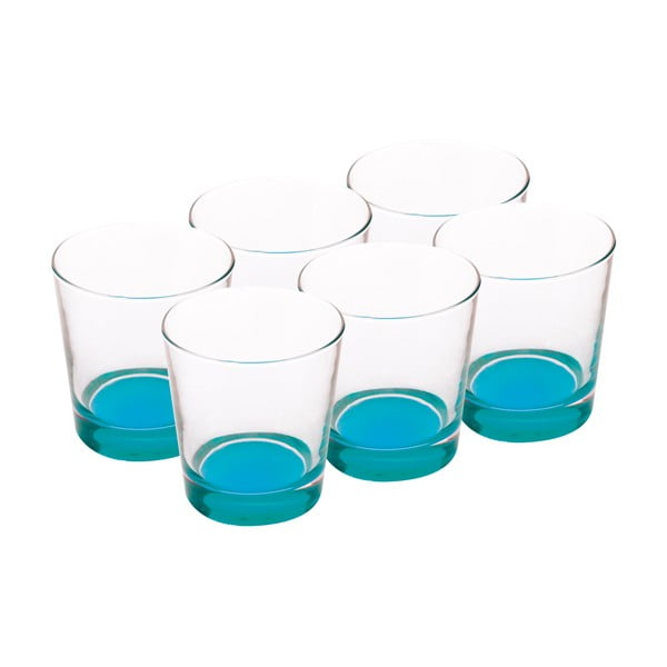 Sada skleniček 340 ml, modré