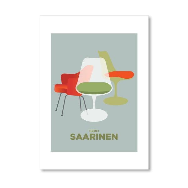 Autorský plakát Saarinen chairs