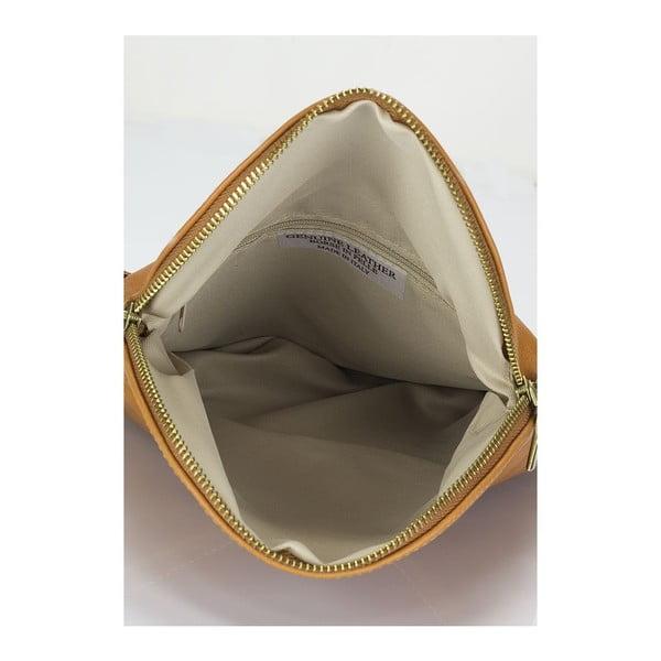 Koňakově hnědá kožená kabelka Lisa Minardi Renae