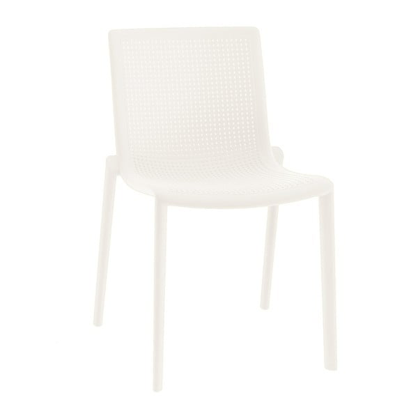 Sada 2 bílých zahradních židlí Resol Beekat Simple