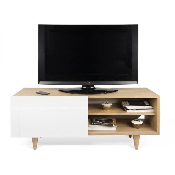 Televizní stolek Cruz Pure White/Oak