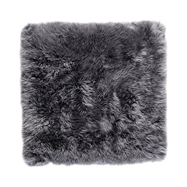 Šedý čtvercový koberec z ovčí vlny Royal Dream Zealand