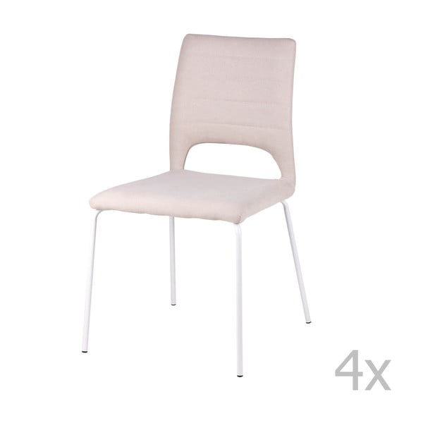 Set 4 scaune sømcasa Lena, roz deschis