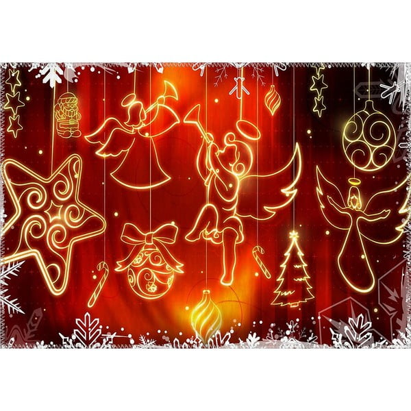 Covor Vitaus Christmas Period Hanging Shapes, 50 x 80 cm