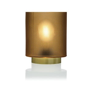 Žlutá skleněná olejová LED lampa Versa Relax, ⌀ 11,8 cm