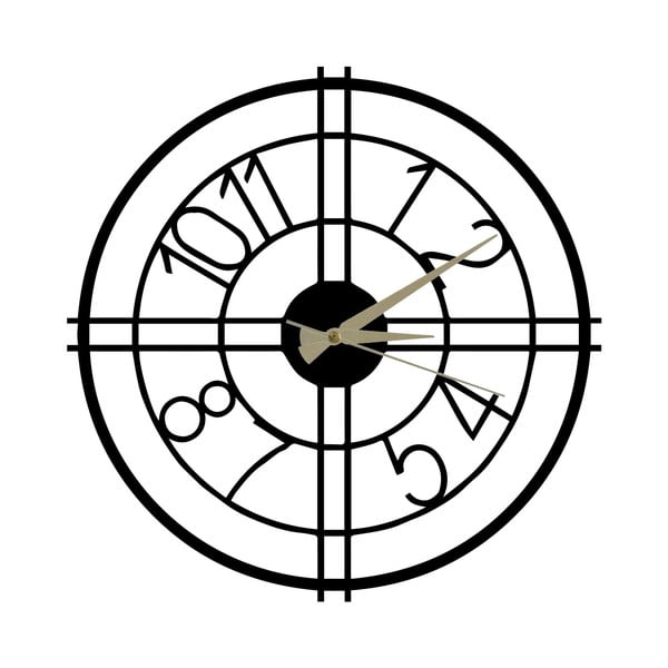 Ceas din metal Hefaistos, ø 50 cm