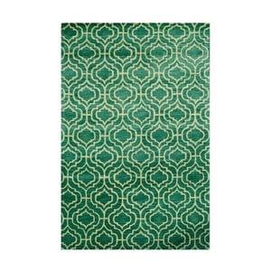 Ručně tuftovaný zelený koberec Dallas, 244x153cm