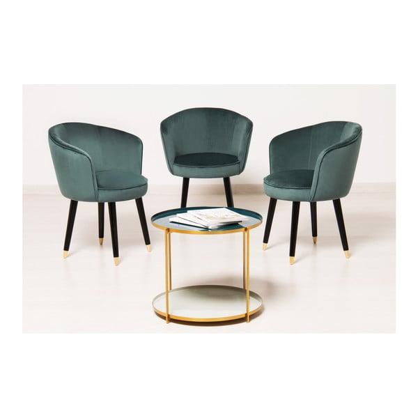 Sada 2 zelených židlí Vivonita Valerie