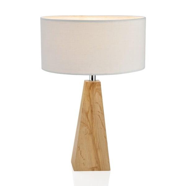 Dřevěná stolní lampa Conic