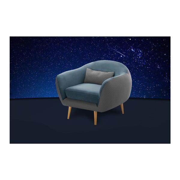 Tyrkysově modré křeslo Scandi by Stella Cadente Maison Meteore