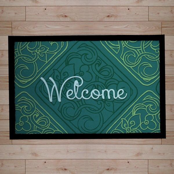Rohožka Welcome Green, 40x60 cm