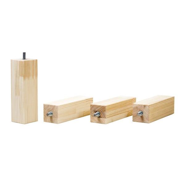 Lakované prodloužené nohy ze smrkového dřeva k dětské posteli Benlemi Tery, délka20cm